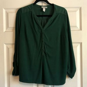 Green 3/4 Sleeve Top